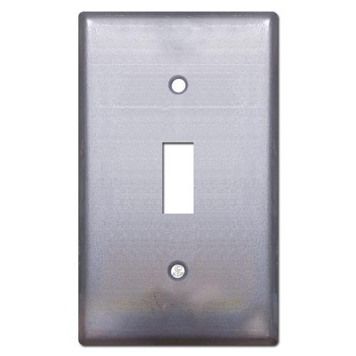 1 Toggle Wall Plate - Raw Steel Paintable