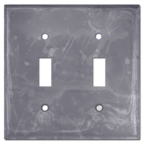 2 Toggle Light Switch Cover - Raw Steel Paintable