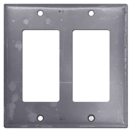 2 Decor Rocker GFCI Outlet Cover - Raw Steel Paintable