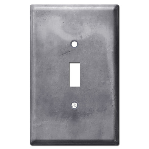 Oversized 1 Toggle Wallplate - Raw Steel Paintable