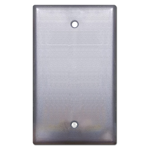 1 Blank Wall Switch Plate - Raw Steel Paintable
