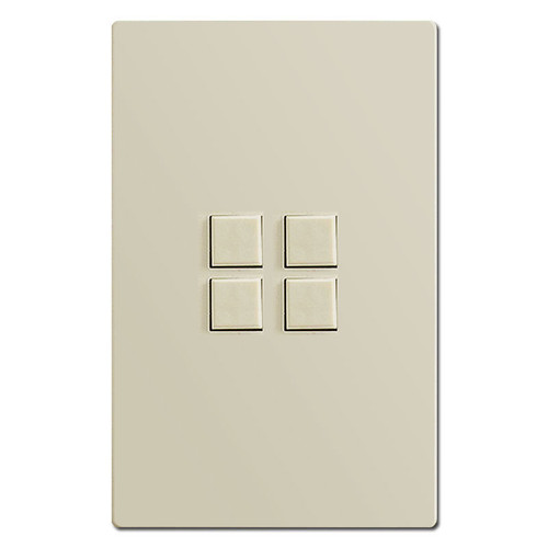 Touch Plate Mystique 4 Button Switch Control - Almond