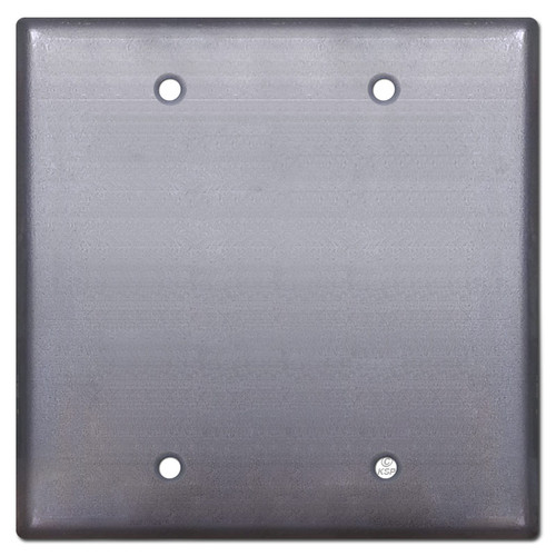 2 Blank Wall Plate Cover - Raw Steel Paintable