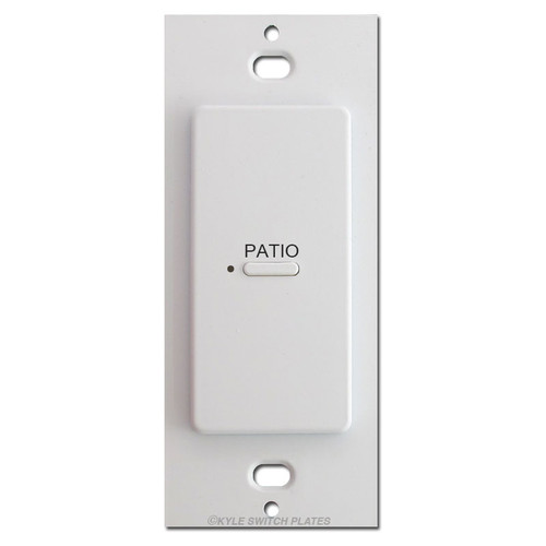 Engraved 1 LED Switch Touch-Plate Ultra Low Voltage Control