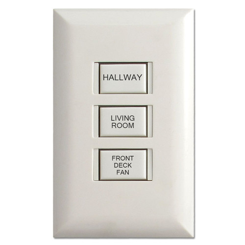 Engraved 3-Button Touch-Plate 5003 Switch