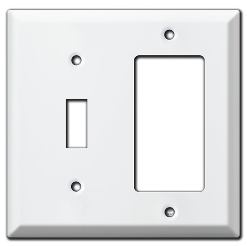 Deep Toggle Decora Outlet Cover Plate - White