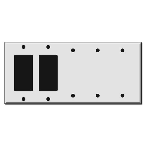 5-Gang 2-Decora 3-Blank Wall Switch Covers