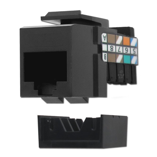 Leviton Black RJ45 Cat 3 Phone Jack Insert for QuickPort Frames