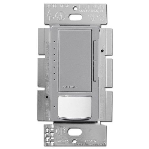 Occupancy Vacancy Dimming Switch S/P or 3 Way - Gray