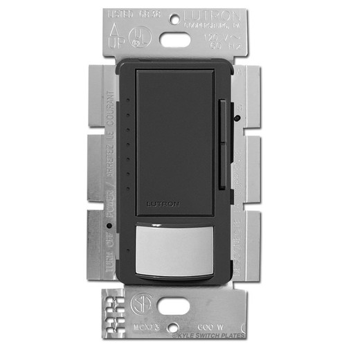 Vacancy Occupancy Light Dimmer S/P or 3 Way - Black