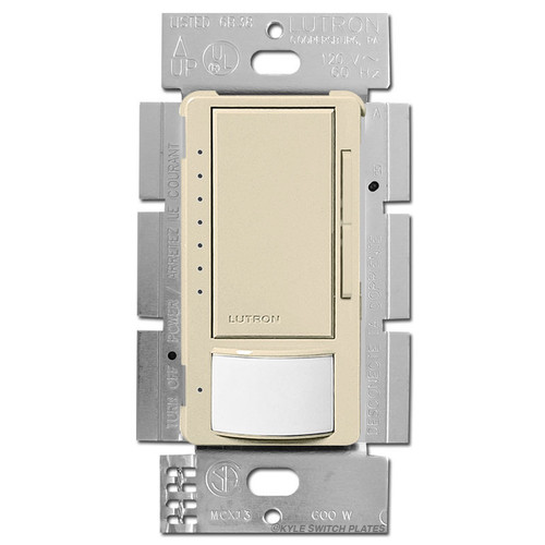 Occupancy Vacancy Sensing Dimmer S/P or 3 Way - Ivory