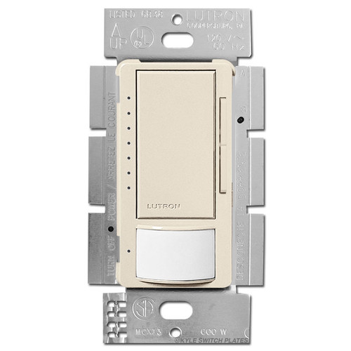 Room Occupancy Vacancy Dimmer S/P or 3 Way - Light Almond