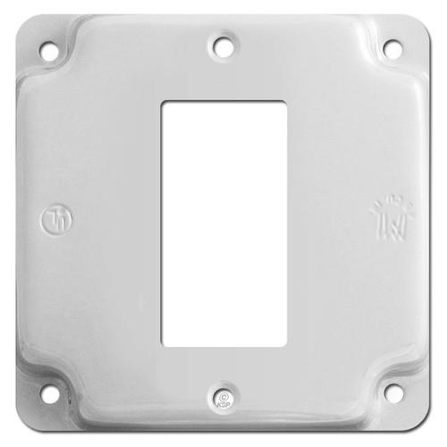 Center Mount Decora Rocker Utility Box Cover - White