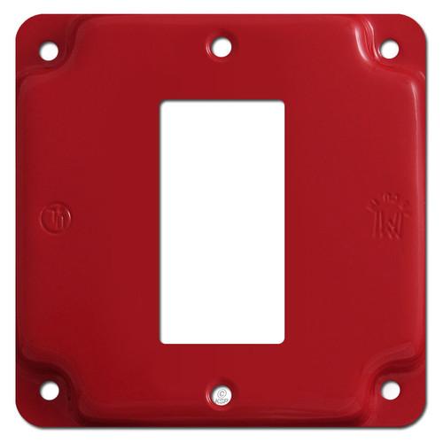 Center Mount Decora Rocker Utility Box Cover Plate - Red