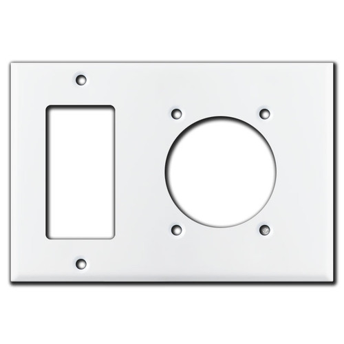 Block Outlet / 30A Dryer Range Round Outlet Wall Plates