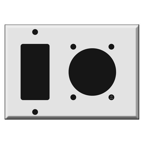 GFCI Outlet + 30/50/60A NEMA 14-50R Dryer/Range Outlet Covers
