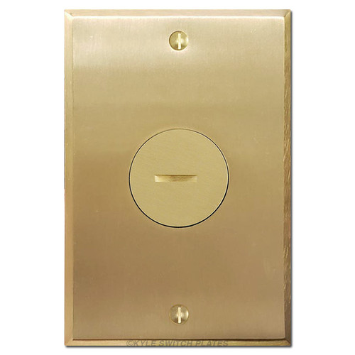 Floor Outlet Covers - Brass Single Receptacle Plate