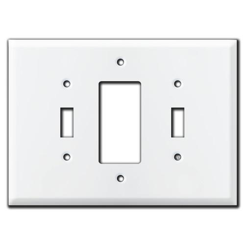Jumbo Toggle Decora Toggle Wall Plate Cover - White