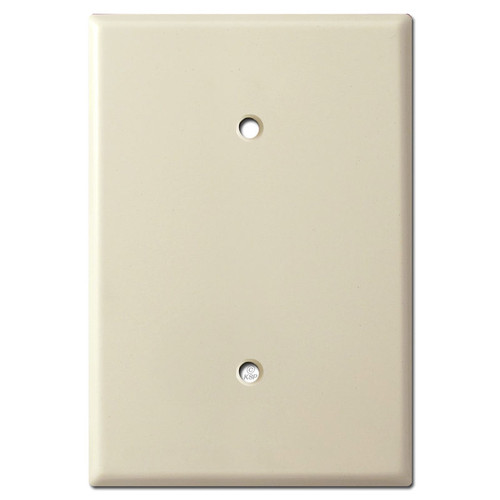 6.4'' x 4.5'' Oversized Blank Electrical Cover Plate - Ivory