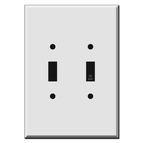 Extra Tall 2-Toggle Switch Plate Covers 6.38'' High