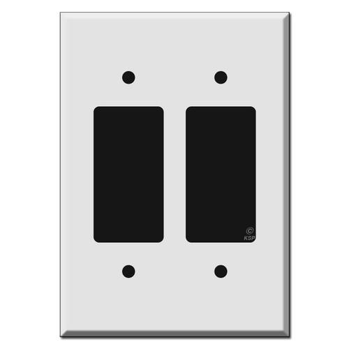 Larger Jumbo 2-Decora Rocker GFCI Switch Plates 6.38'' Tall