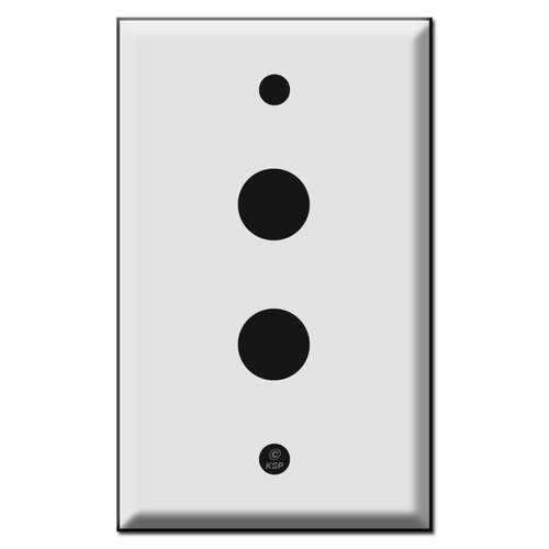 Double Doorbell Button Cover Plate - Two 5/8'' Openings