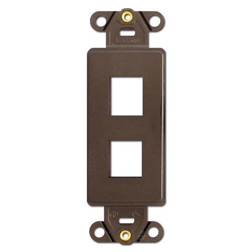 Brown Leviton 2 Port Frames for Modular Jack Adapters