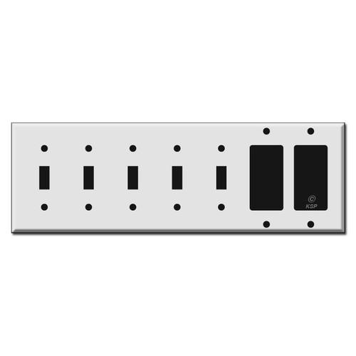5-Toggle 2-Decora Switch Wall Plates