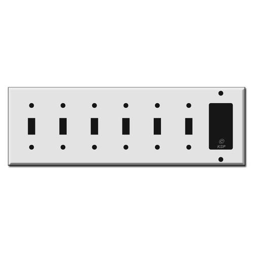 6-Toggle 1-Decora Switch Wall Plates