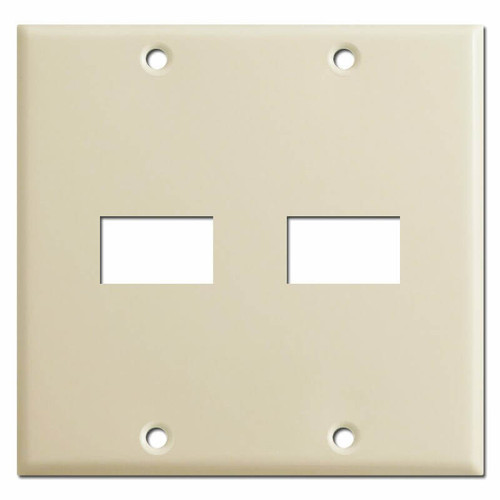 GE Old Type Low Voltage 2 Gang 2 Switch Wall Plate - Ivory