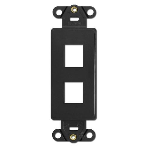 Black Leviton 2 Port Frames for Modular Jack Adapters