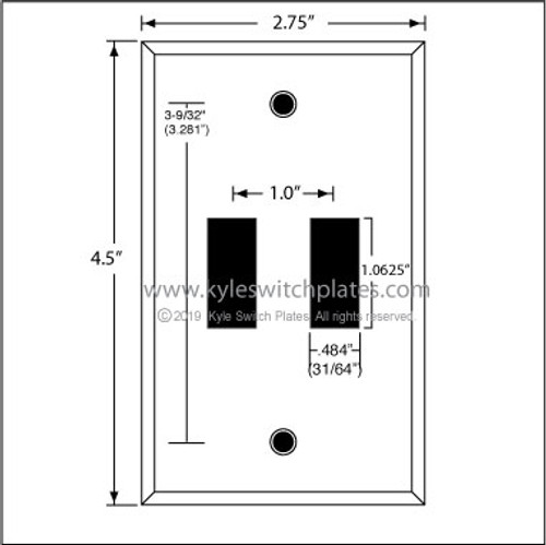 1-Gang Dual Snap-In Rocker Switch Cover Plates