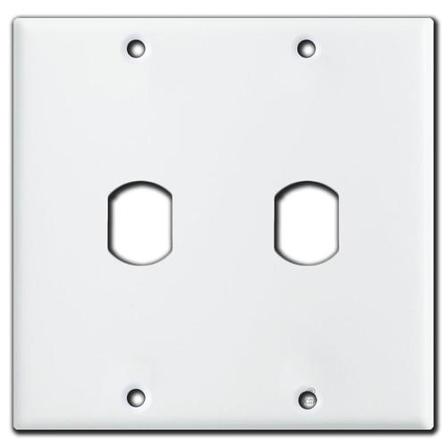 Dual Vertical 1 Despard Switch Wallplate - White