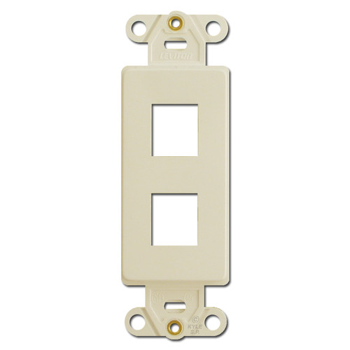 Ivory Leviton 2 Port Frames for Modular Jack Adapters