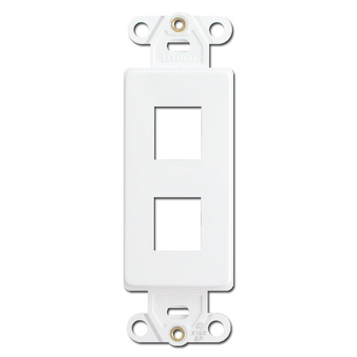 White Leviton 2 Port Frames for Modular Jack Adapters