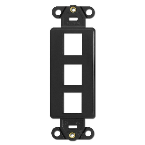 Black Leviton 3 Port Frames for Modular Jack Adapters