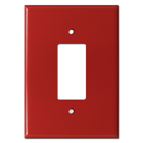 "6.38"" Larger Jumbo Rocker GFI Outlet Cover - Red"