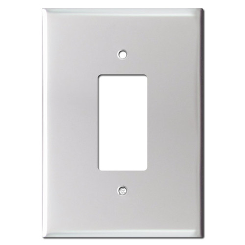 6.38'' Bigger Jumbo Decor Wall Plate - Brushed Aluminum