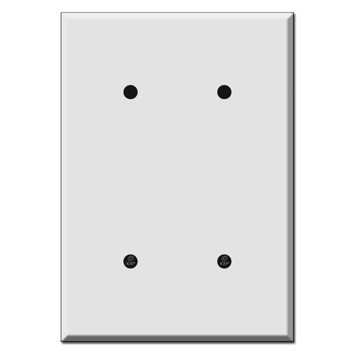 "Extra Oversized 2 Blank Wall Plate Covers 6.38"" High"