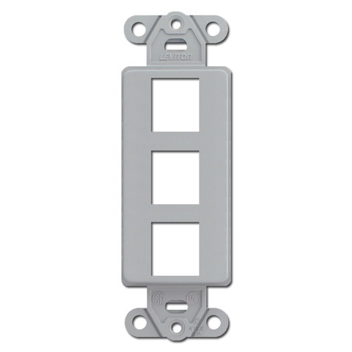 Gray Leviton 3 Port Frames for Modular Jack Adapters