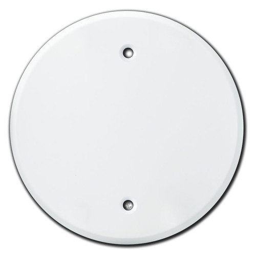 Round Blank Cover for 1-Gang Box 3.28'' Screw Spacing - White