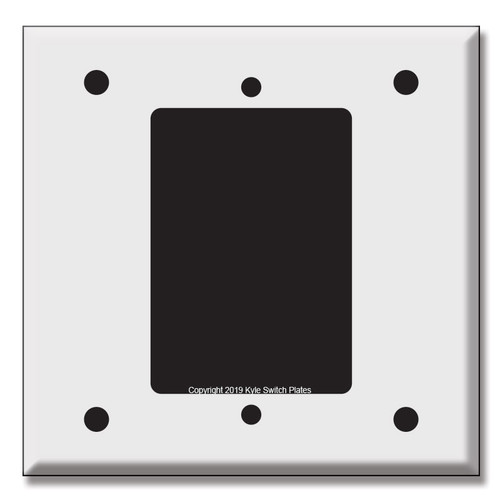 Specialty Intercom Speaker Cover 2-Gang Mount Drawing