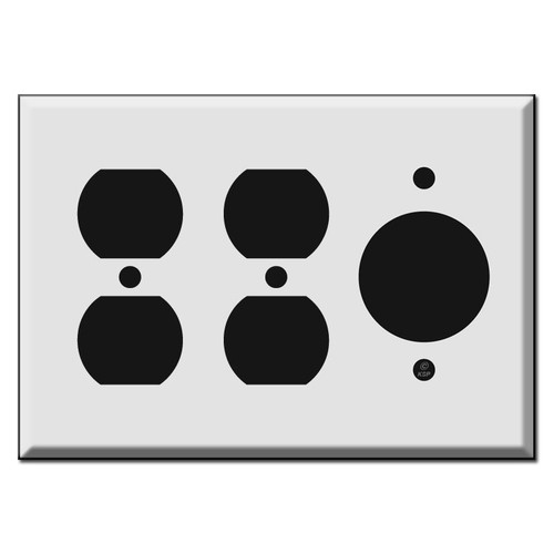 Combo 2 Duplex Outlet + 1.62'' 20A TL Receptacle Cover Plate