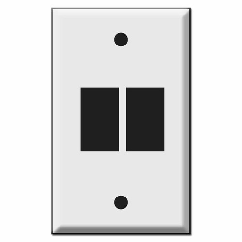 Newer Style 2-Vertical GE Switch Low Voltage Wall Plates