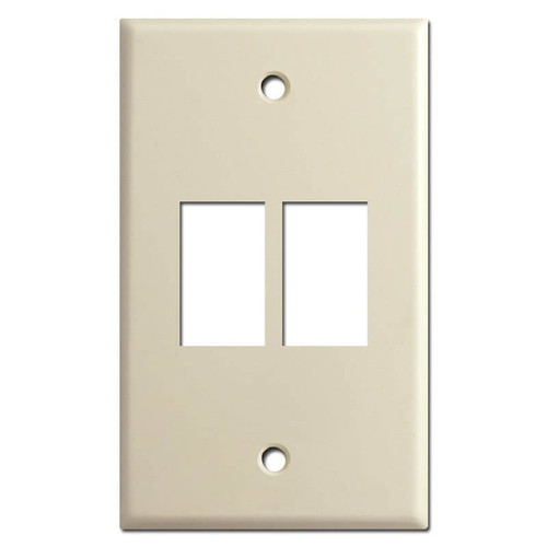Newer Vertical 2-Button GE Low Volt Lightswitch Cover - Ivory