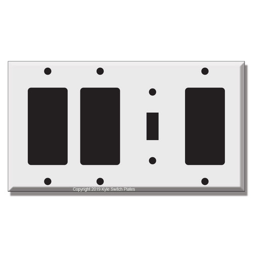 2-Rocker GFI 1-Toggle 1-Rocker GFI Wall Plate Covers