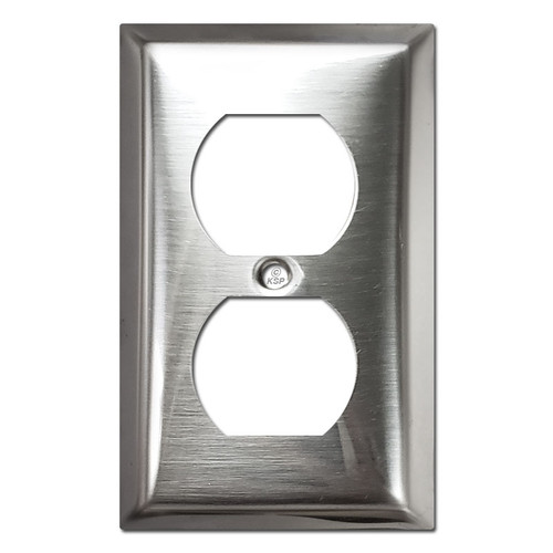 1/4'' Deep Duplex Receptacle Cover - Polished Stainless Steel