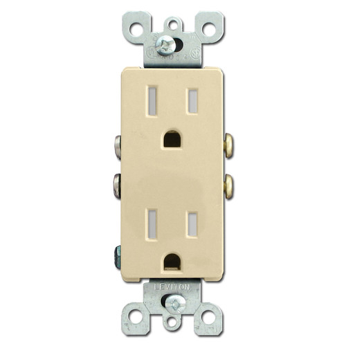 Decora Electric Outlet Tamper Resistant 15A - Ivory