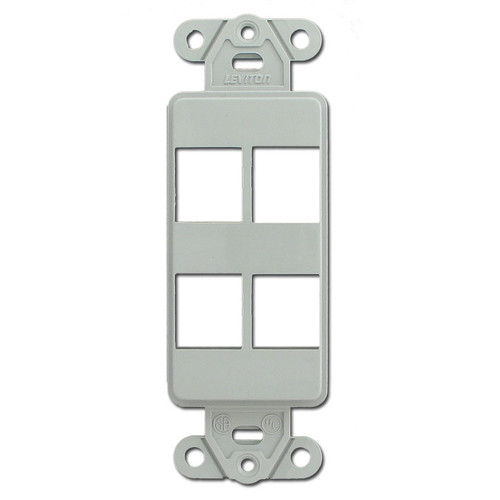 Gray Leviton 4 Port Frames for Modular Jacks