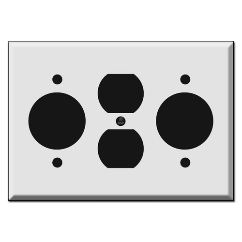 1 Duplex Outlet + Dual 1.62'' 20A TL Receptacle Cover Plate